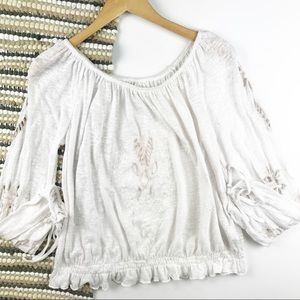 Free people cut out peasant blouse